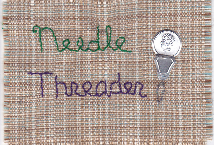 Needle threader.